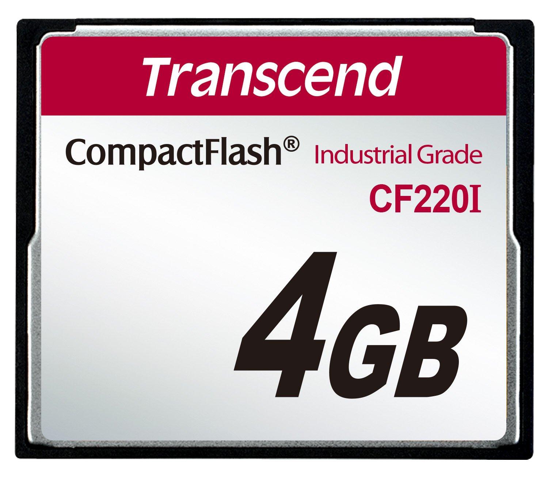 Transcend 4GB CF 4Go Carte CompactFlash mé moire flash - mé moires flash TS4GCF220I