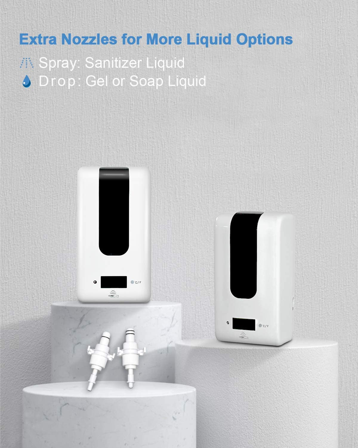 Yidax Automatic Hand Sanitizer Dispenser with Thermometer on Stand, Touchless Sanitizing Station with Temperature Measurement, Perfect for Home, Office, School and Commercial Industrial Public Areas: Home & Kitchen