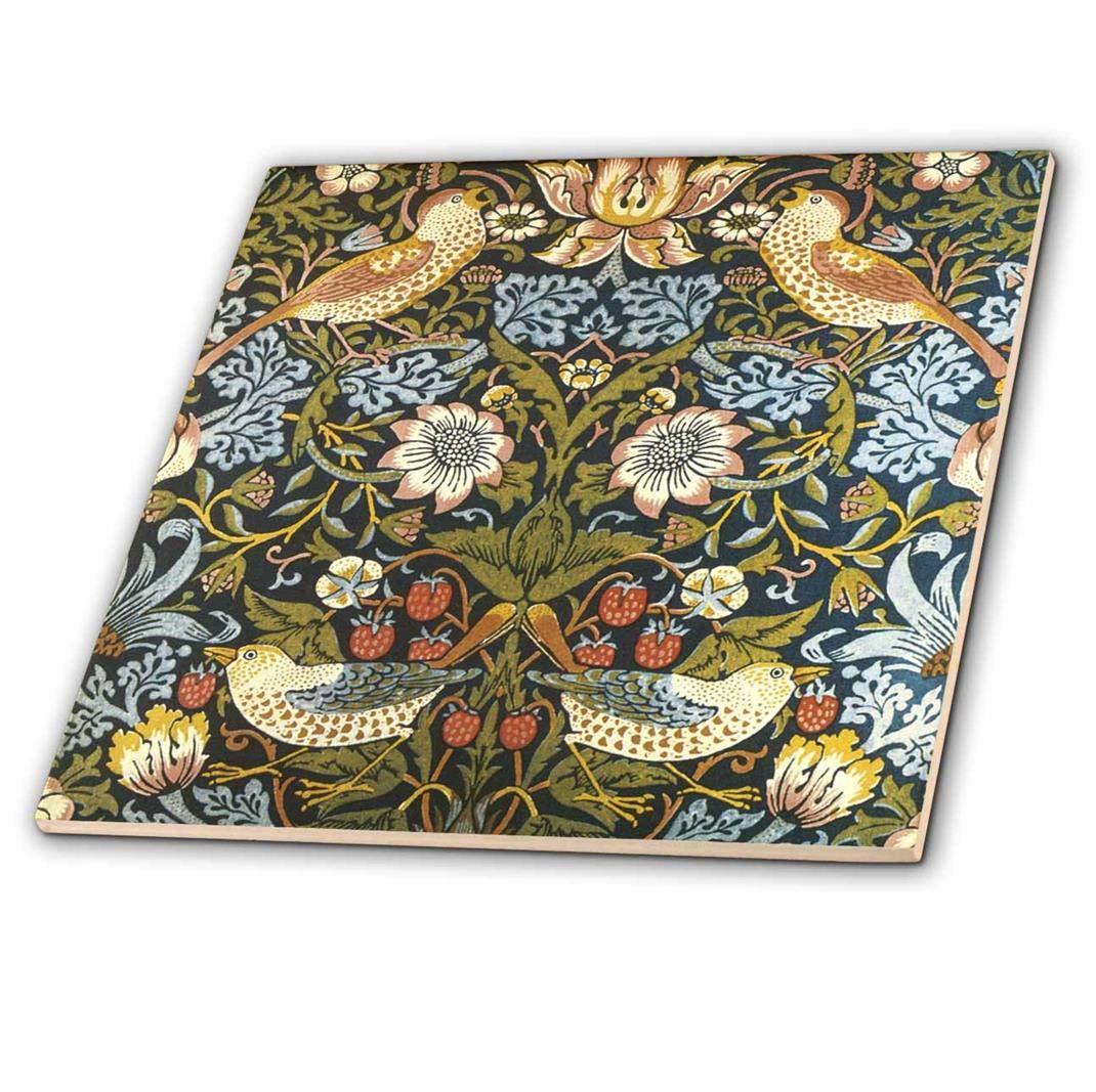 Rikki Knight Van Gogh Art Earthern Bowls Design Ceramic Art Tile 12 x 12