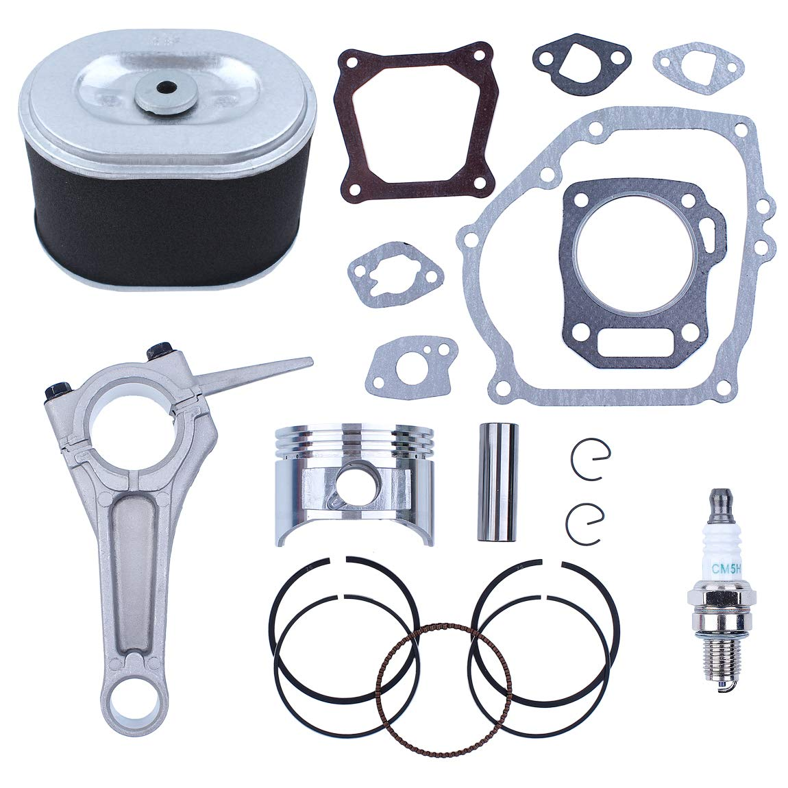 68mm Piston Rings Connecting Rod Air Filter Kit Fit Honda GX160 5.5 hp Gasoline Motors Engines Generator Water Pump