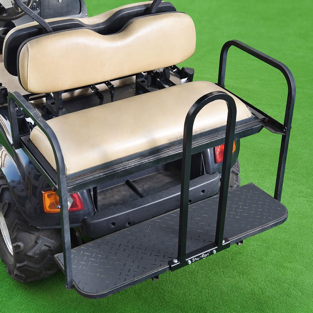 AW Golf Cart Rear Seat Safety Grab Bar Hand Rail Club Car EZGO Yamaha Universal Black by AW (Image #4)