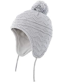 778b8d894f9 Connectyle Toddler Boys Girls Fleece Lined Knit Kids Hat with Earflap  Winter Hat