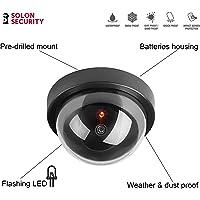 Cámara de seguridad falsa de CCTV con luz