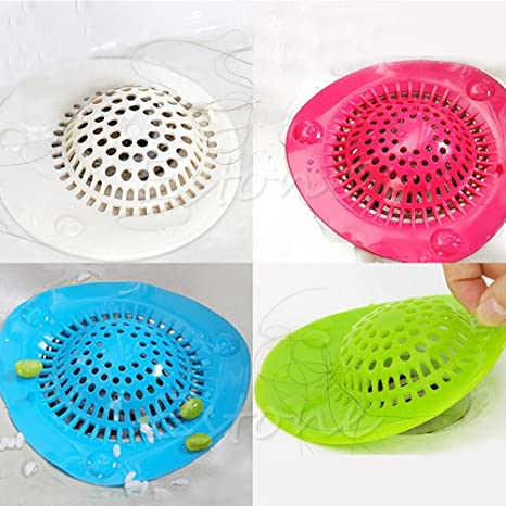 Shopais Silicone Sink Strainer Floor Drain Cover Hair Catcher Rubber