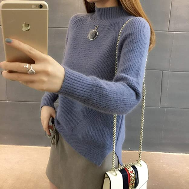 Amazon.com: Autumn Winter Thick Women Sweaters Korean Loose Turtleneck Solid Pul Side Split Knitwear Chaquetas Invierno Mujer: Shoes