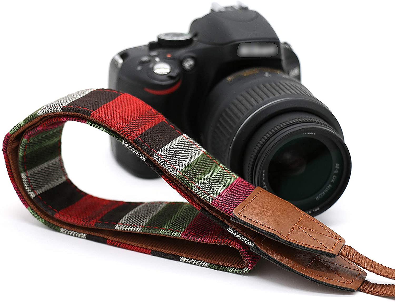Compatible with Canon Fujifilm Nikon Olympus Panasonic Pentax Sony Cameras LYN-205 Classic Design Vintage Weave Camera Neck Strap Camera Shoulder Belt Strap