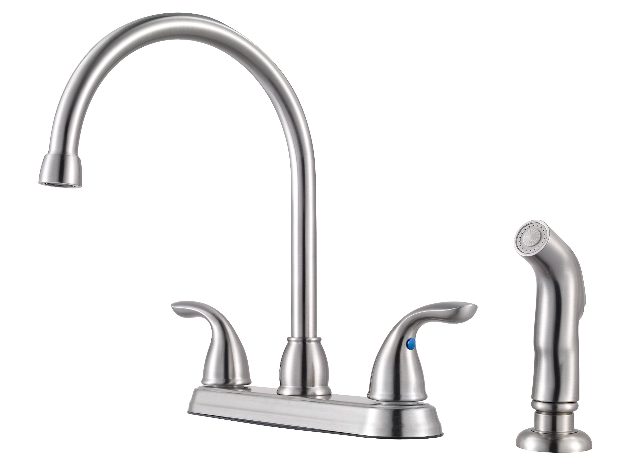 Pfister G136500S Series 2-Handle Kitchen Faucet with with Side Spray, 1.75 GALLONS PER MINUTE, Stainless Steel by Pfister