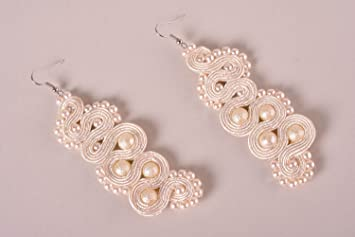 60f6cbb53113 Pendientes de soutache hechos a mano bisuteria de moda accesorio para  mujer  Amazon.es  Hogar