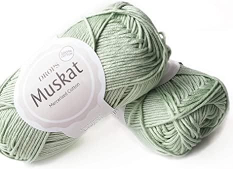 Amazon Com 100 Cotton Yarn For Knitting And Crocheting 3 Or Light Dk Worsted Weight Drops Muskat 1 8 Oz 109 Yards Per Ball 20 Light Mint