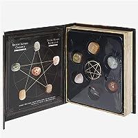 Namvo Caja de 6 piedras de chakra de cristal, piedras de bruja, símbolos grabados, piedra natural reiki, meditación…