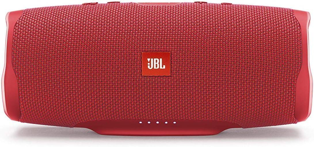 JBL Charge 4 - Altavoz inalámbrico portátil con Bluetooth, resistente al agua (IPX7), JBL Connect+, hasta 20h de reproducción con sonido de alta fidelidad, color rojo