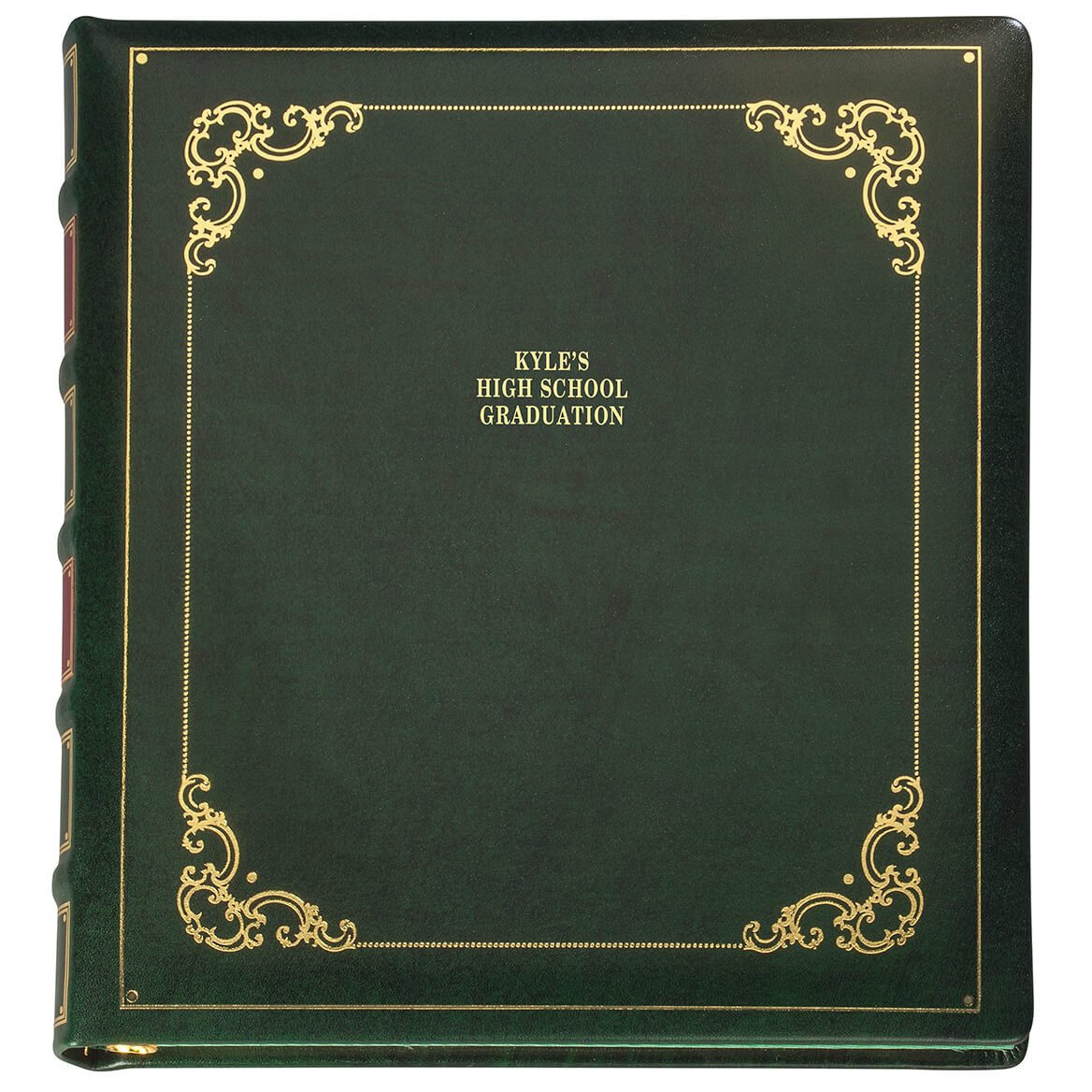Personalized Library Leather Album - Hunter 3 Lines