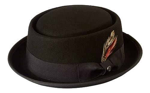 Black 100% Wool Felt Thin Brim Pork Pie Hat Heisenberg  Walter White   Breaking b2918ac524a