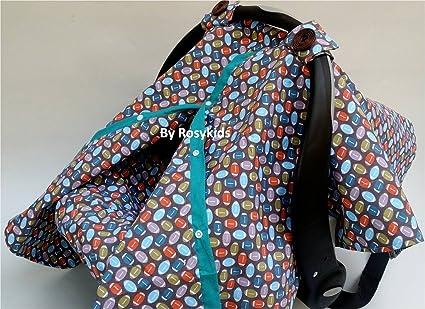 Rosy Kids infantil resistente al agua toldo funda 3pc Conjunto Caboodle, bebé asiento de coche