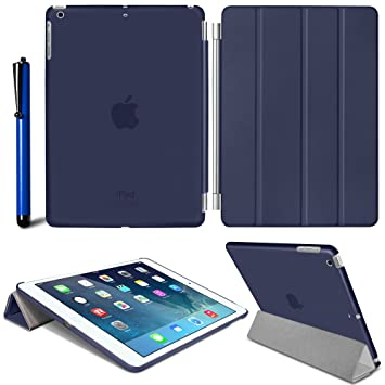Back Case with Auto Sleep Wake Incl Black Mobile Junction /® SMART Case Apple iPad Air Slim-Fit Folio Stand Case Magnetic Smart Cover Free Screen Protector /& Stylus 5th Generation with Retina Display