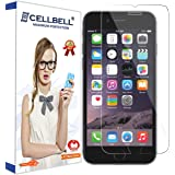 CELLBELL Tempered Glass Screen Protector Guard For iPhone 8 With Installation Kit