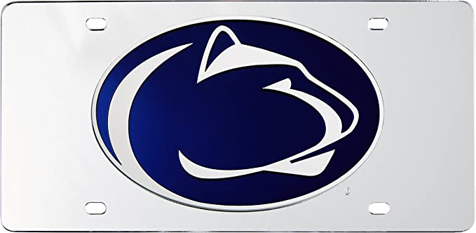 50076 975 Penn State Chrome License Plate lp