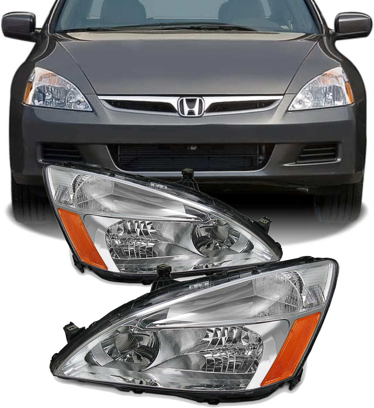 -Black Driver Side with Install kit 2003 Honda Accord Coupe Post Mount Spotlight 100W Halogen 6 inch Larson Electronics 1015P9JFP6A