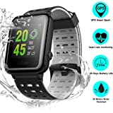 Weloop Hey 3S Smart watch, Multifunction Outdoor IP68 Waterproof Sport Bluetooth GPS Fitness Activity Tracker Smartwatch with Heart Rate Sleep Monitor message remind for iPhone android (Black)