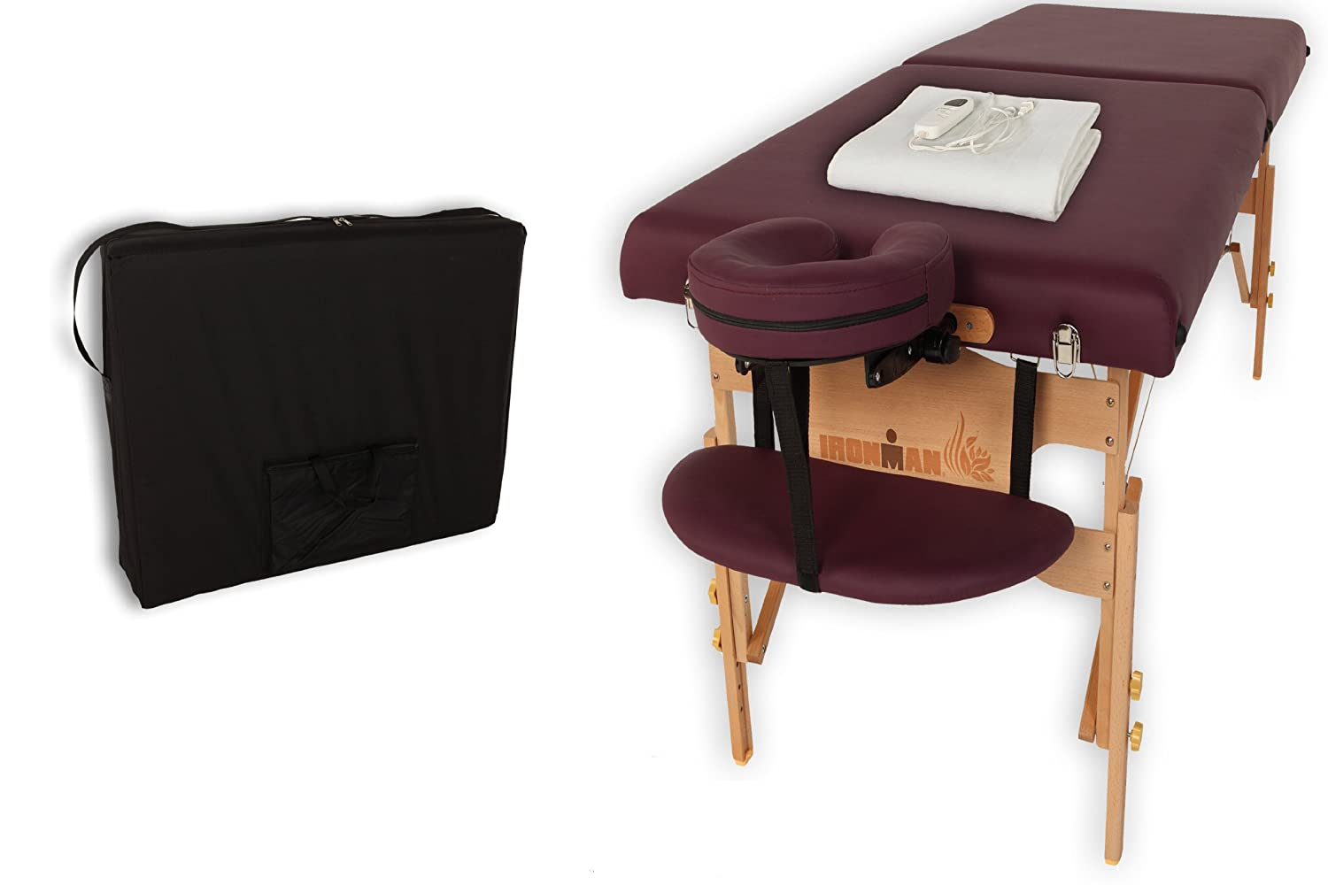 Ironman 9107 30-Inch Astoria Massage Table with Heating Pad and Carry Bag Inc.