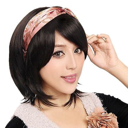 Tenflyer Nueva Sexy Ladies corto recto peluca pelo natural pelucas