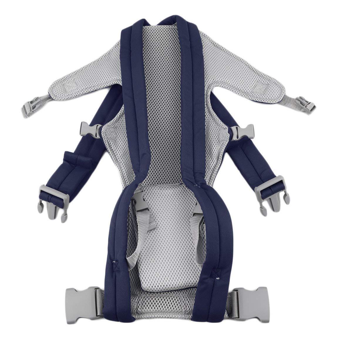 Bebé recién nacido del portador de bebé cuna Los niños de la honda del bolso de la bolsa delantera ajustable y transpirable parte posterior del bebé del ...
