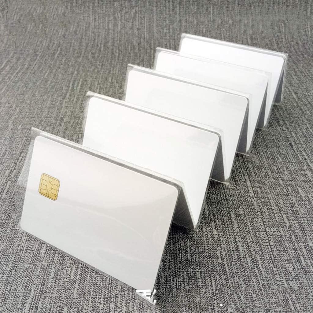 Haptian 10 St/ück//Los SLE 4428 PVC Blank Card Kontakt IC Smart Card