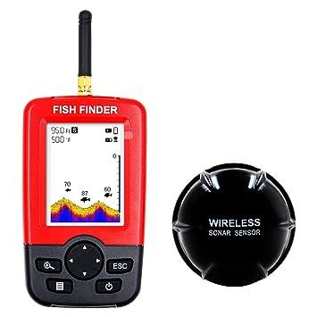 MBEN Buscador de Peces, Sensor portátil de Sonar inalámbrico, Monitor LCD de Mano, Pantalla a Color Detector de Pesca: Amazon.es: Deportes y aire libre