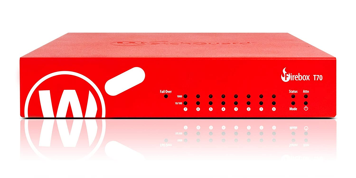 WatchGuard Firebox T70 - Security appliance - with 3 years Total Security Suite - 8 ports - GigE - WatchGuard Trade Up Program B01MF4LCO7