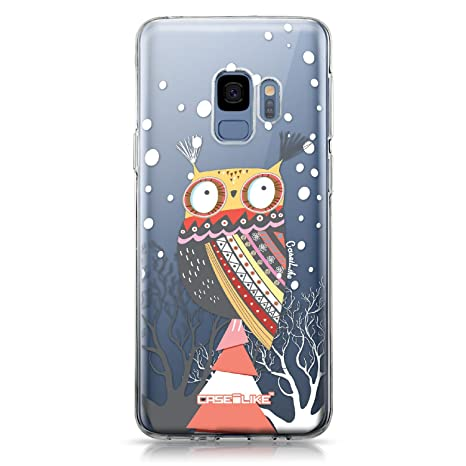 CASEiLIKE® Funda Samsung S9, Carcasa Samsung Galaxy S9, Búho diseño gráfico 3317, TPU Gel Silicone Protectora Cover
