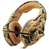 Headset Gamer Onikuma Profissional K1B (Camuflagem Amarelo)