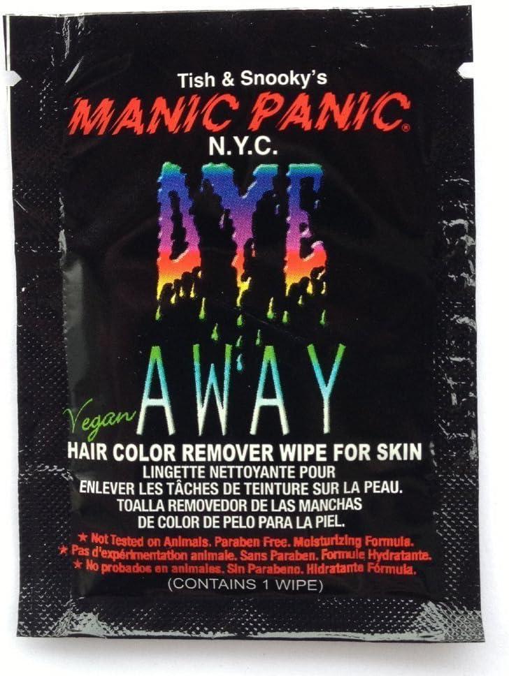 Toallita limpiadora facial para manchas de tinte capilar de Manic panic