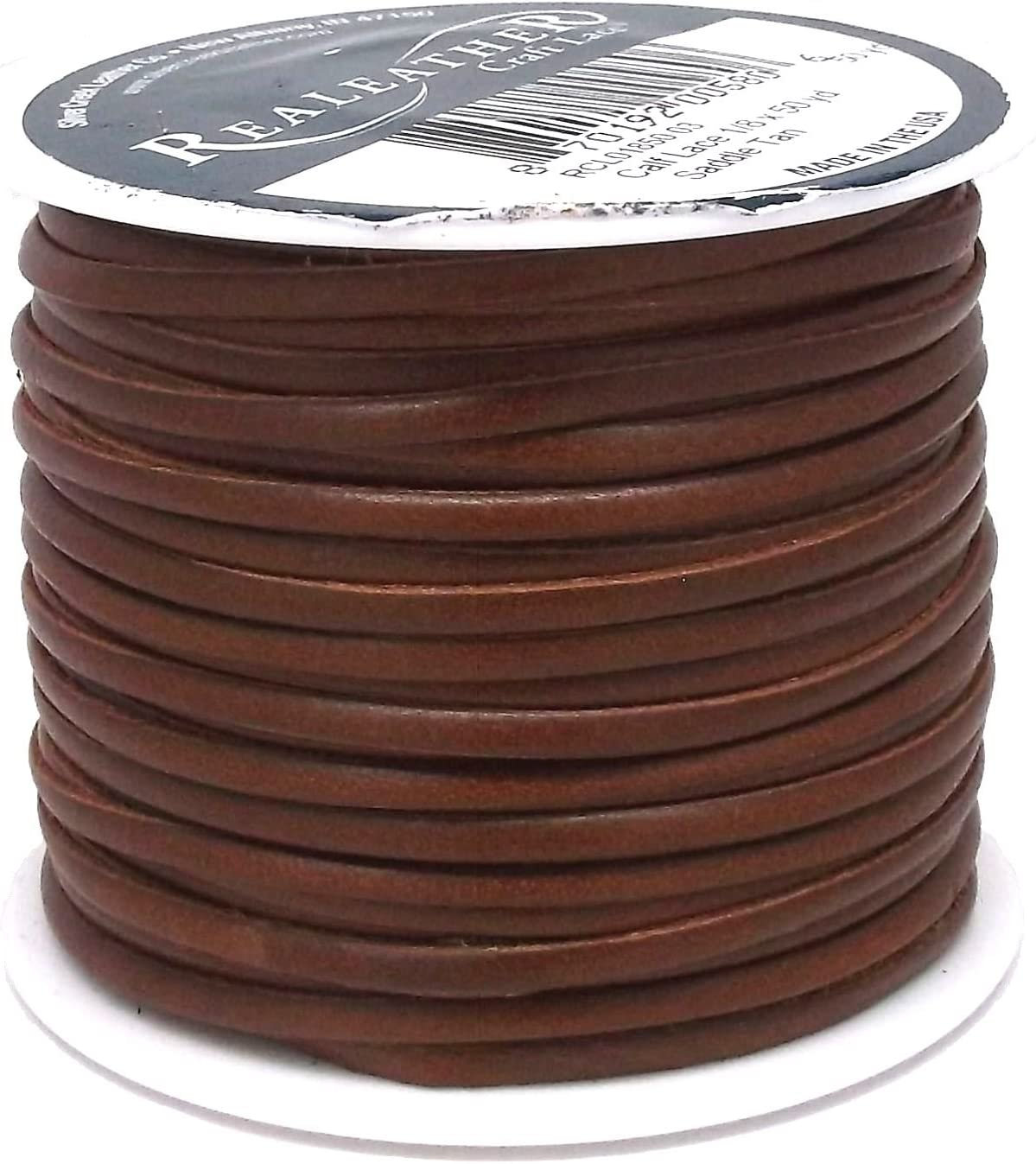 Saddletan Superior Leather Lace by Real Leather 1//8 x 50 yds