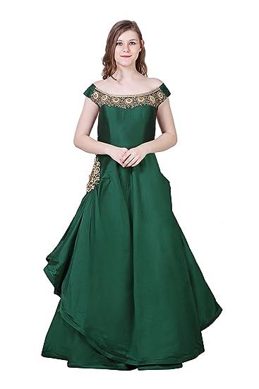 7708c6cd0 Maharani Shakuntala Fashions Women s Taffeta Net Western Indo Heavy ...