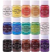 Dewel Mica Powder,15 Botes 10g Polvo de Pigmento