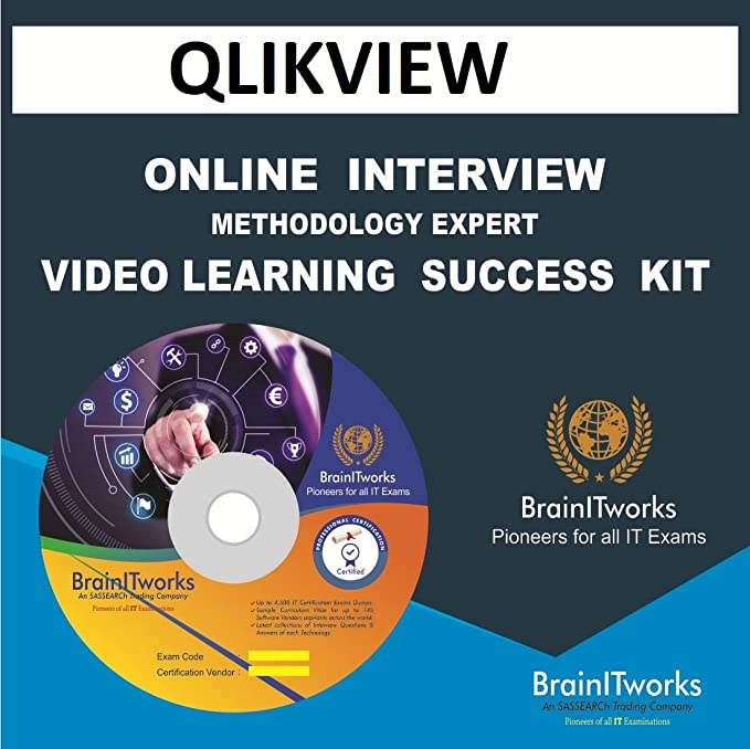 Amazon in: Buy QLIKVIEW Online Interview video learning SUCCESS KIT