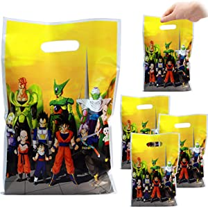 Dragon Ball Party Bags, 30 Packs of Dragon Ball Goodie Bags,Durable Plastic Dragon Ball Gift Bag,Dragon Ball Themed party supplies or Candy Bags or Dragon Ball Party Favor bags for Kids Birthday Party or Baby Shower