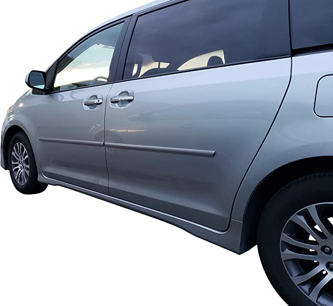 Painted Body Side Moldings for the Toyota Sienna Painted in the Factory Paint Code of Your Choice 8S4