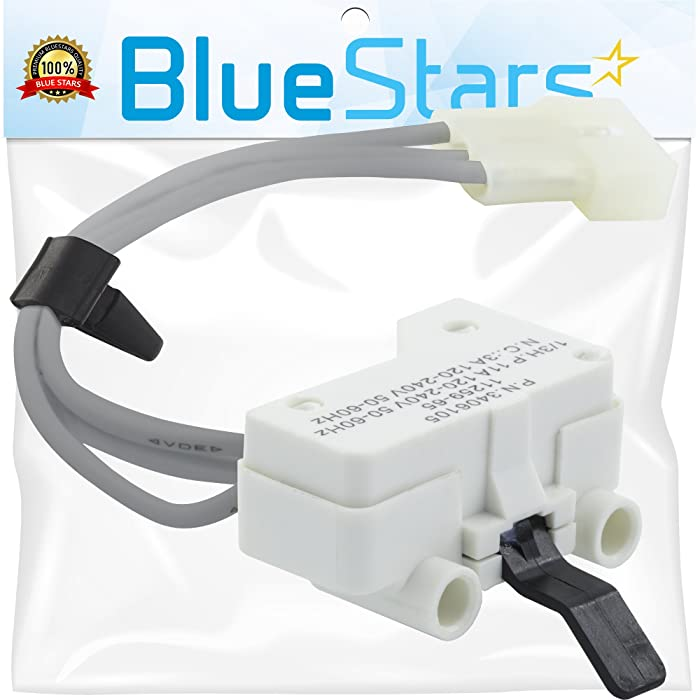 Ultra Durable 3406105 Dryer Door Switch Replacement Part by Blue Stars - Exact Fit for Whirlpool & Kenmore dryers - Replaces 3406104 WP3406105