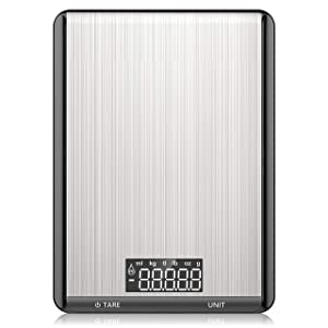 Digital Food Scale - Nicewell Kitchen Scale Food Weight Grams and Ounces for Cooking, Max. 22lb/10kg, 0.1oz Precision