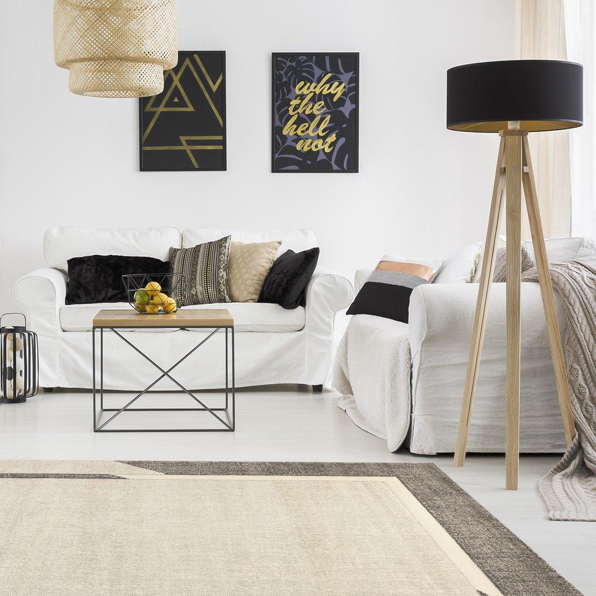 Havatex Moderner Teppich Style Style Style Frame - Grau oder Beige meliert mit Bordüre   strapazierfähig pflegeleicht   Öko-Tex Siegel, Farbe Grau, Größe 200 x 290 cm B07FM67636 Teppiche 4b9cb5