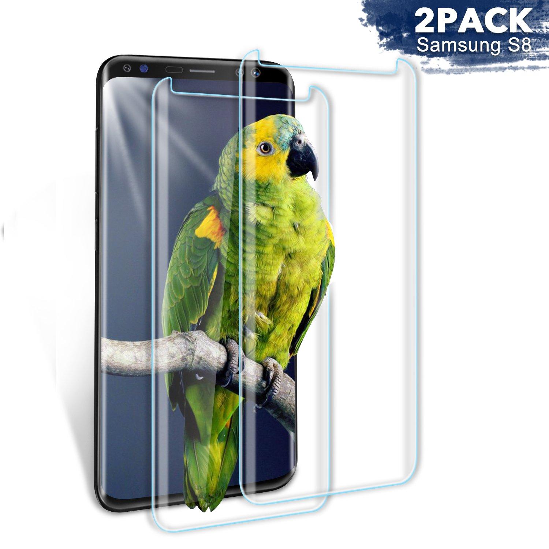 Aonsen Protector De Pantalla Galaxy S8,[2 Pack] Cristal Vidrio Templado Protector De Pantalla,9h Dureza,Anti Rasguños,Anti Arañazos,Sin Burbujas (Transparent) by Aonsen