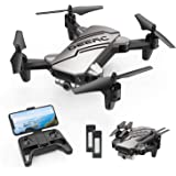 DEERC D20 Mini Drone Foldable for Kids with 720P HD FPV Camera Remote Control Toys Gifts for Boys Girls with Tap Fly,Auto Hov