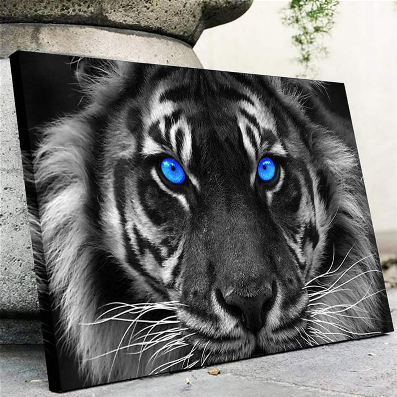 NATVVA Modern Wall Art Painting Gifts Blue Eyed Tiger Posters Art Picture Printed Canvas Artist Home Decor Artwork for Living Room Bed Room Men Wall Decoration No Frame