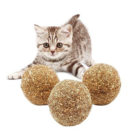 Juguete divertido para gato de AOOPOO. Pelota de menta para masticar, juguete para gato