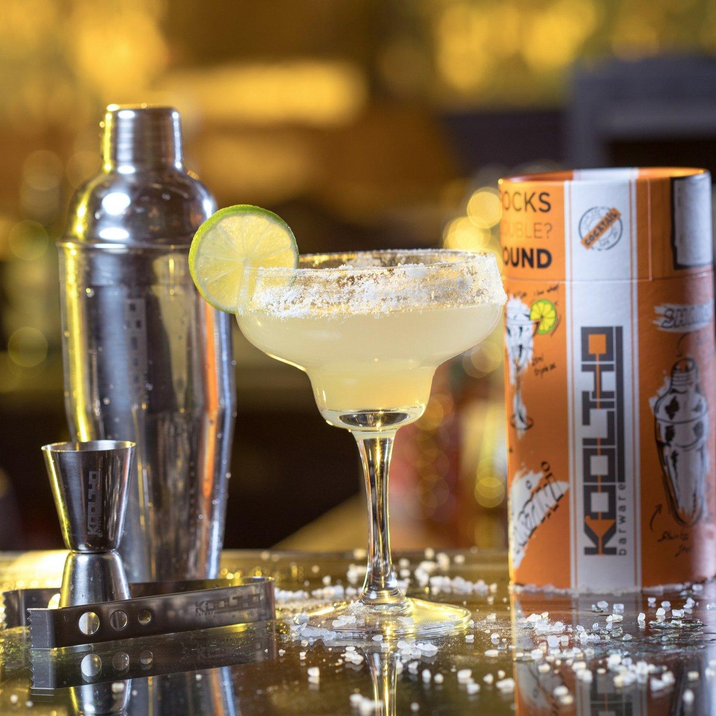KOOLTHO Cocktailshaker Set mit Cocktail Zubehör, Shaker, Messbecher ...
