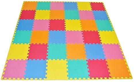 a interlocking zoom colourful foam eva slip anti play puzzle for floor mat