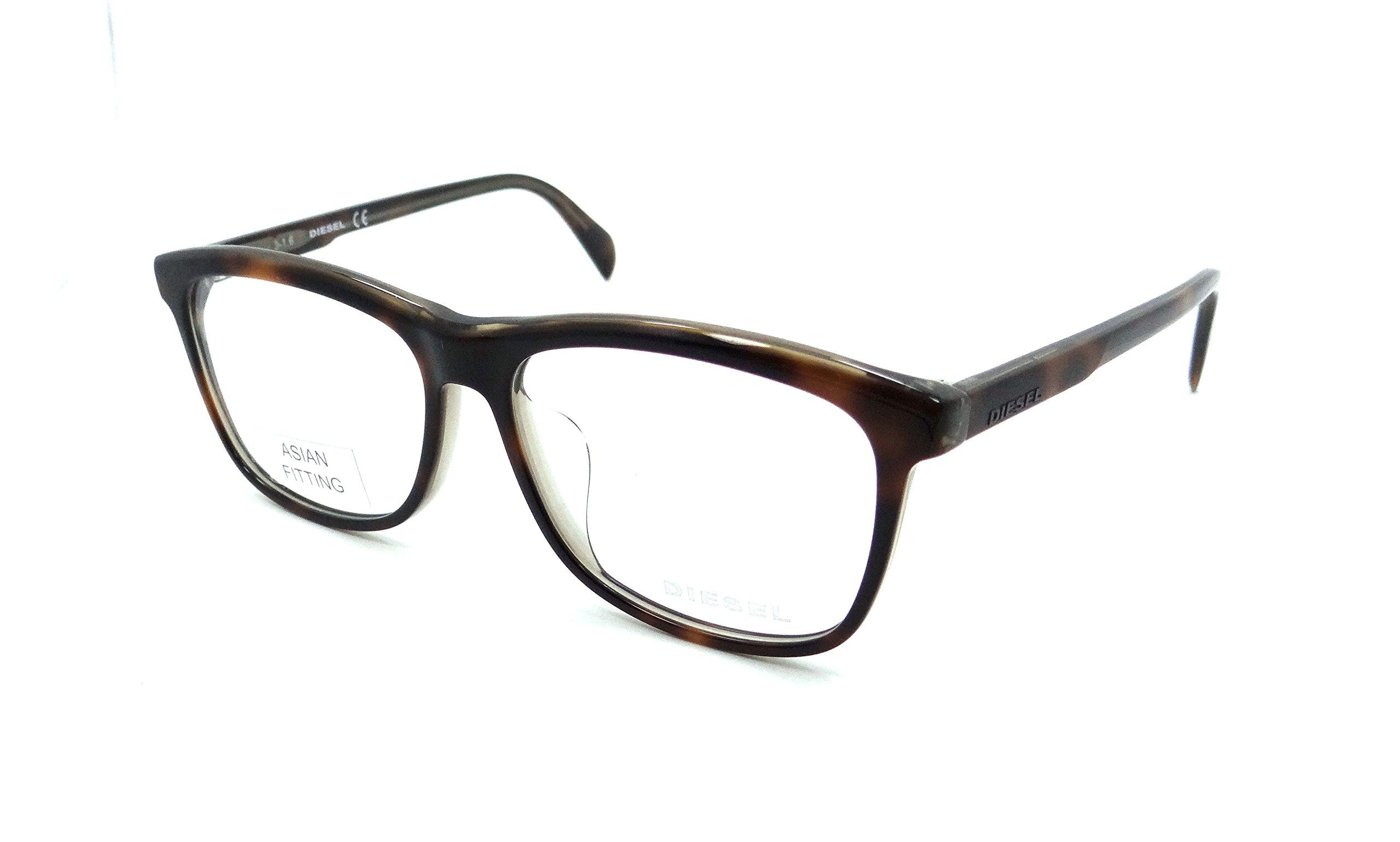 Diesel Rx Eyeglasses Frames DL5183-F 056 54-14-145 Havana Asian Fit