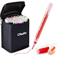 Paint Pens for Rock Painting Art, Ohuhu 40-color Acrylic Markers Pen for DIY Ceramic, Water-Based Acrylic Ink Painting…