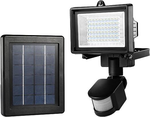 muro esterno luci 4er-set LED a luce solare con 100 ° rilevatore di movimento Max 8m
